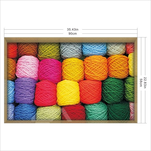 Colorful Ball of String Slipping-Preventing Water-Proof Bathroom 3D Floor Sticker