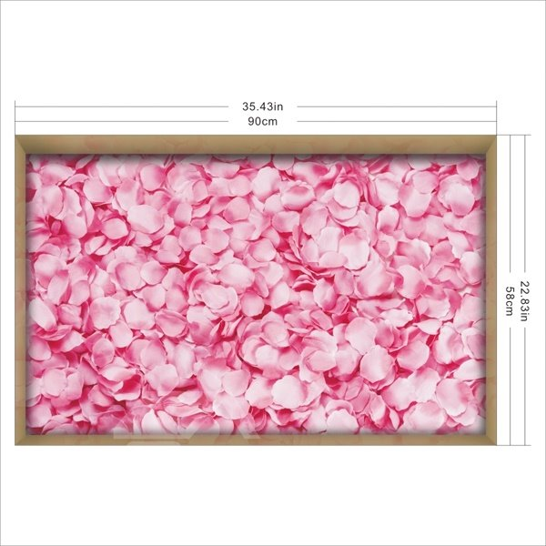 Pink Flower Petal Slipping-Preventing Water-Proof Bathroom 3D Floor Sticker