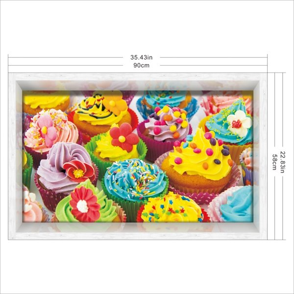 Colorful Delicious Cake Slipping-Preventing Water-Proof Bathroom 3D Floor Sticker