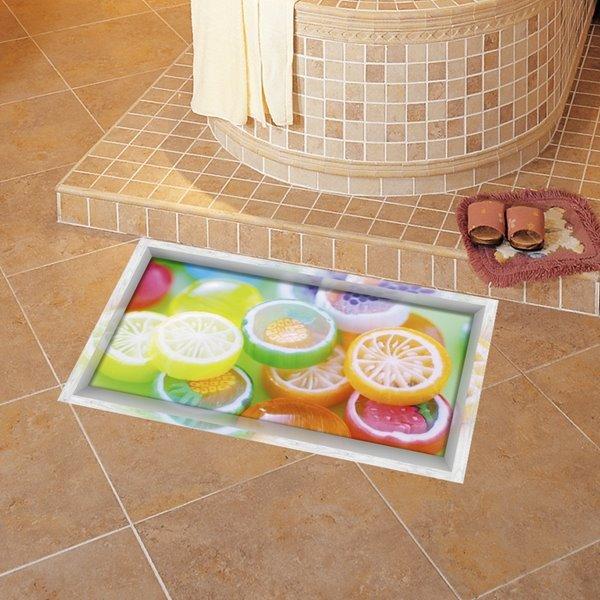 Amusing Orange Pattern Slipping-Preventing Water-Proof 3D Floor Sticker