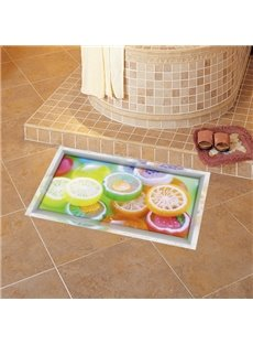 Amusing Orange Pattern Slipping-Preventing Water-Proof 3D Floor Sticker