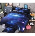 Amazing Galaxy Print 4-Piece Polyester Duvet Cover Sets