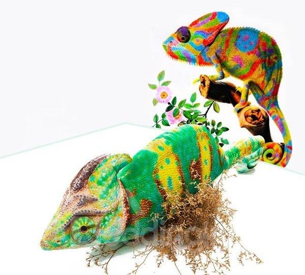 Amazing Lifelike Chameleon Shape Design Throw Pillow