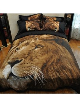 Imperial 3D Lion Printed Bed in a Bag