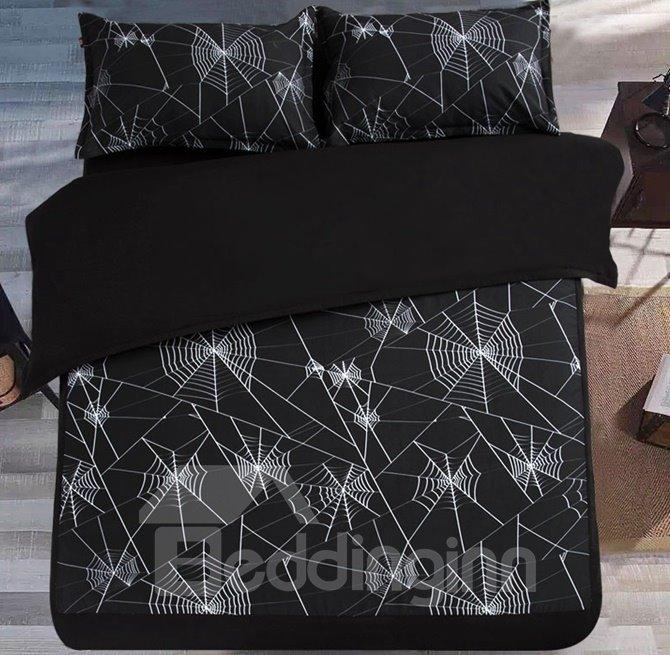 Unique Spider Web Design 4-Piece Duvet Cover Sets