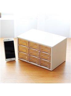 Transparent Drawer Style Office Desktop Storage Box