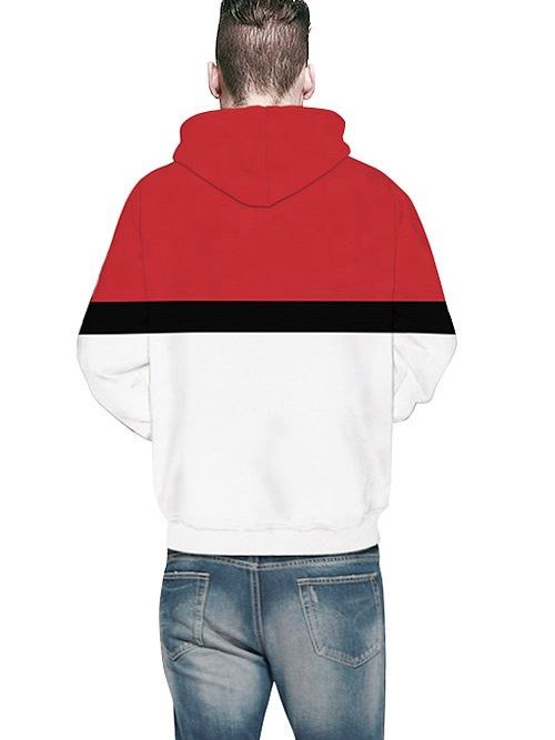 Popular Long Sleeve Poke Ball Pattern 3D Painted Hoodie