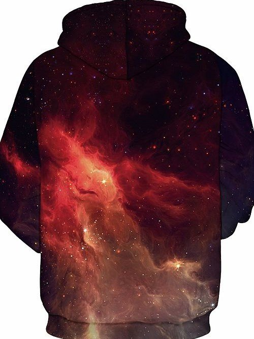 Pretty Long Sleeve Starry Sky Pattern 3D Painted Hoodie