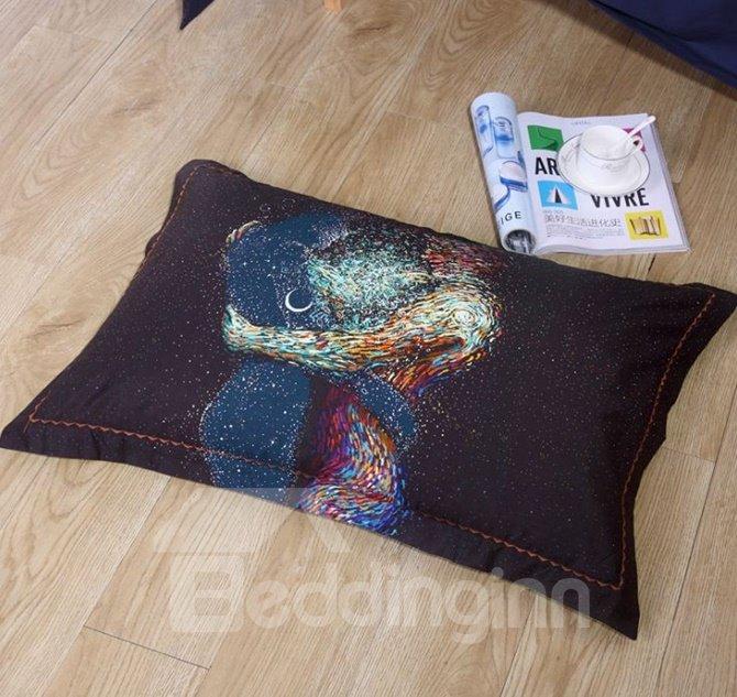 Esthetical Body Art Print 4-Piece Cotton Duvet Cover Sets