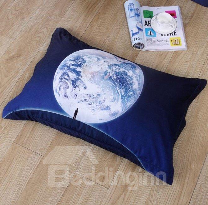 Magic World Reactive Printing Cotton 4-Piece Duvet Cover Sets
