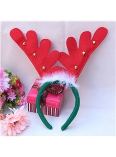 Fashion Festival Christmas Decoration Antler with Fur Head Hoop