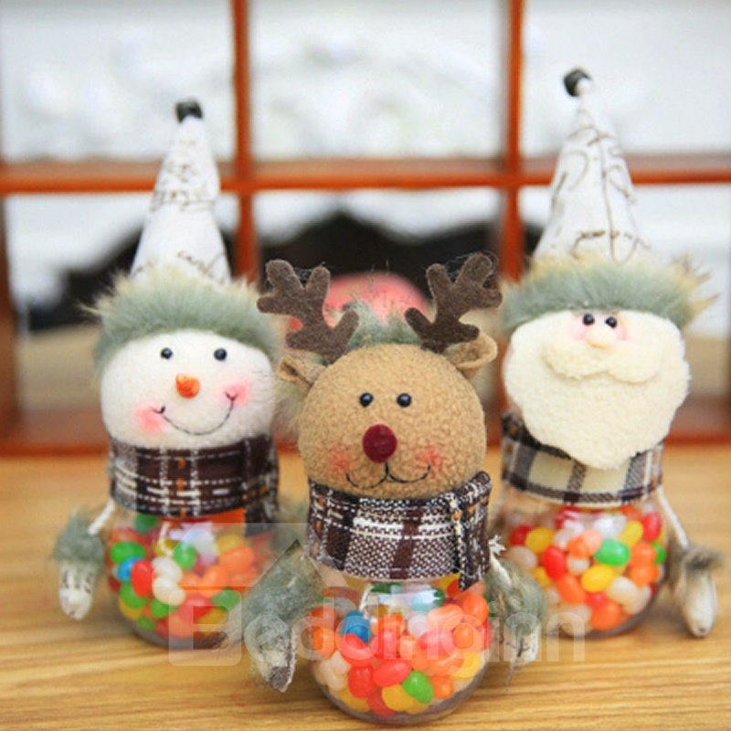 Cute Festival Christmas Decoration Couple Clothes Pattern Cutlery Covers