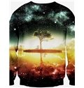 Unique Long Sleeve Tree Pattern 3D Painted Pullover Sweatshirt