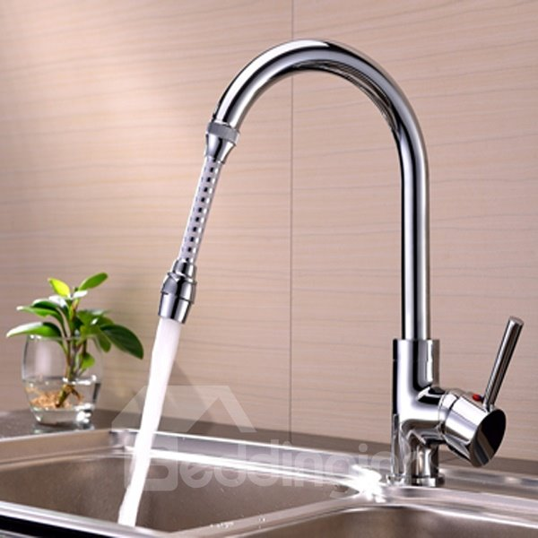 Simple Water Saving 5.9 Inches High Kitchen Faucet Head