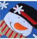 Festival Christmas Decoration Elk and Santa Claus Pattern Christmas Stocking