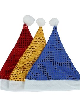 Shining Sequin Solid Christmas Hat