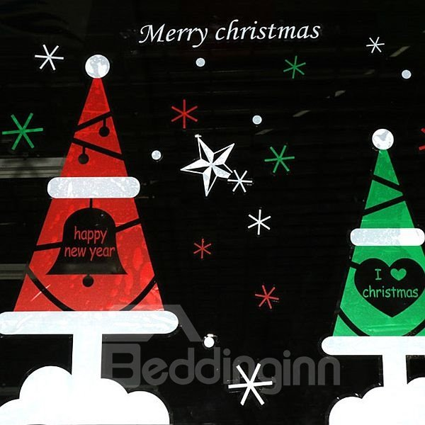 Festival Christmas Decoration Christmas Tree Pattern Wall Sticker