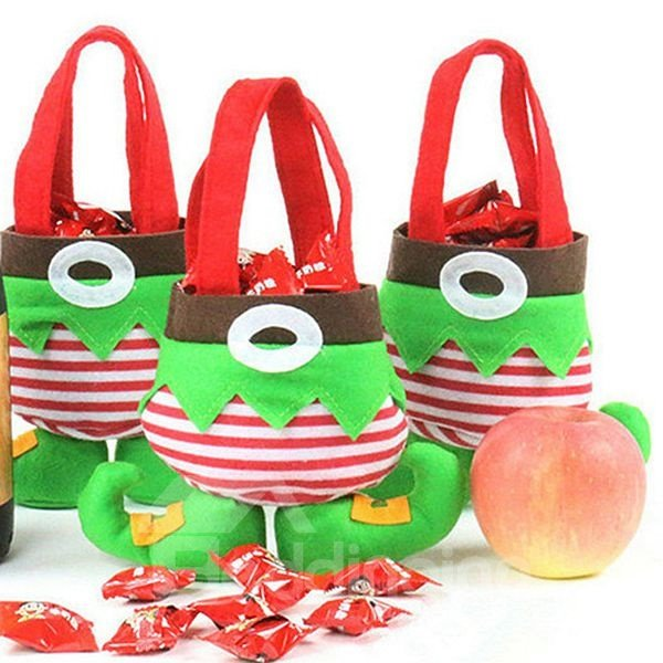 Festival Christmas Decoration Elf Pattern Candy Bag