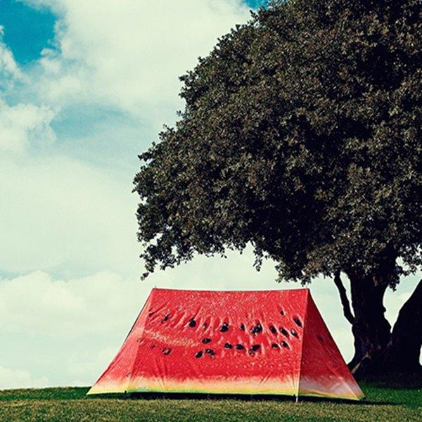 Creative Outdoor Windproof and Waterproof 3D Watermelon Pattern Tent