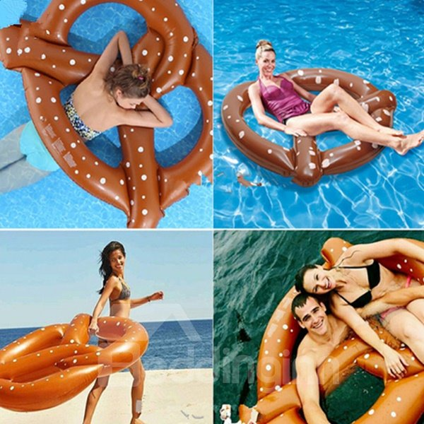 Giant Cookies Water Inflatable Swim Ring and Pool Floating Mat