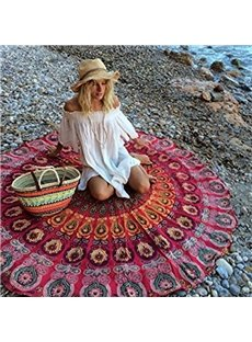 Multi Usage Indian Mandala Style Round Beach Throw Mat