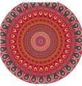 Multi Usage Indian Mandala Style Round Beach Throw Mat