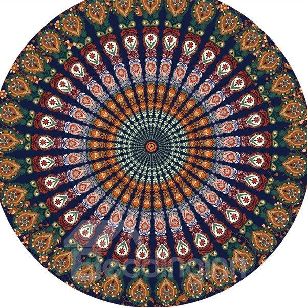 Vintage Indian Mandala Multi Usage Round Beach Throw Mat