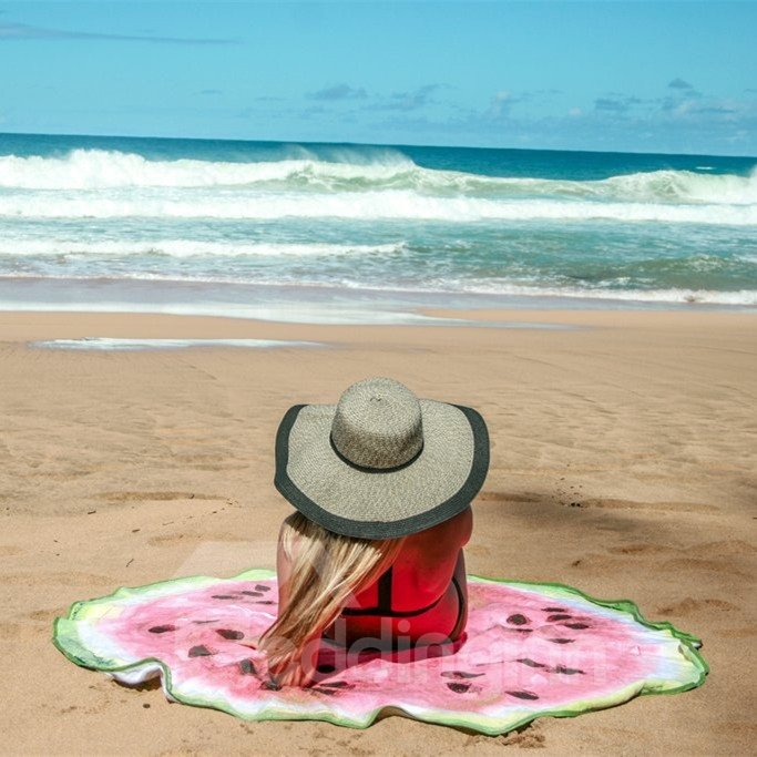 novelty giant watermelon multi usage vacation round beach th