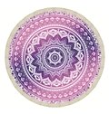 Purple Indian Mandala Outdoor Multi Usage Beach Round Throw Mat