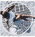 Black Hippy Gypsy Style Multi Usage Beach Throw Mat