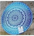 Bohemian Style Blue Tapestry Round Multi-functional Beach Throw