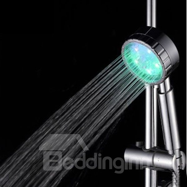 Multicolor Bathroom 7 Colors Automatic Gradual Changing Water Glow LED Light Shower Head