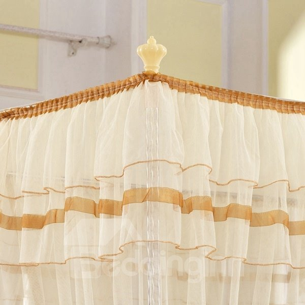 Aulic Style Four Corners Lightweight Polyester Mosquito Net