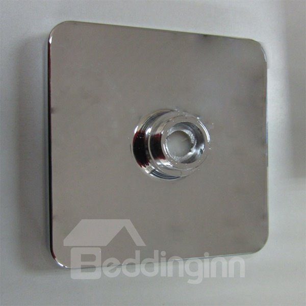 Square Ceiling Mounted Led Temperature Sensor 3 Colors Changing Bathroom Shower Head