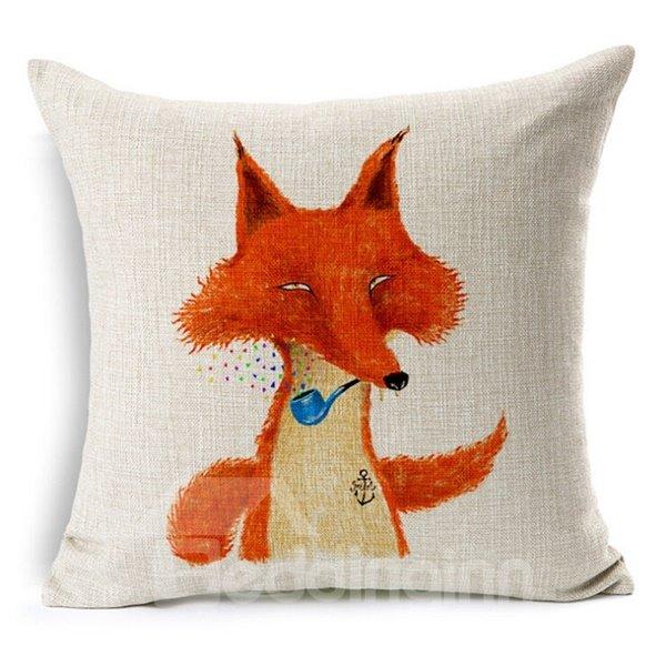 Funny Animal Print Square Throw Pillow Case