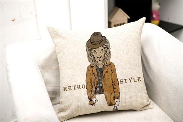 Modern Style Cool Animal Print Throw Pillow Case