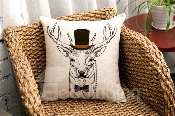 Fashionable Lovely Cartoon Animal Print Throw Pillow Case