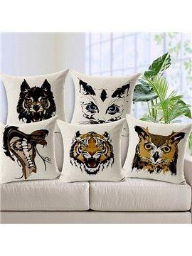 Classic Retro Style Animal Print Throw Pillow Case