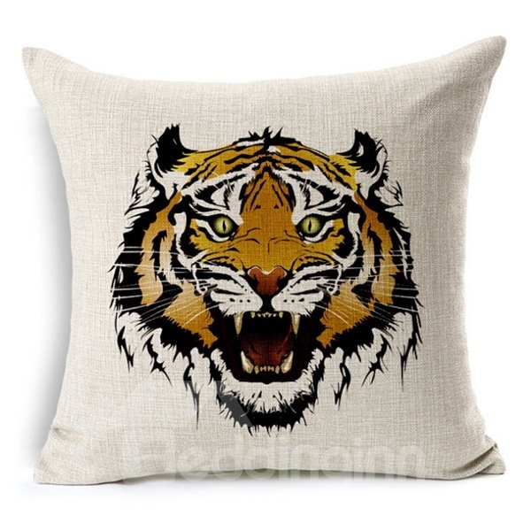 Classic Retro Style Animal Print Throw Pillow Case