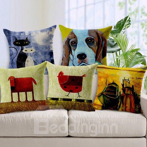 Wonderful Cartoon Animal Print Throw Pillow Case