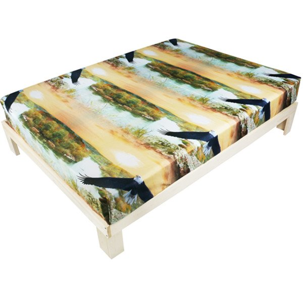 Fancy 3D Flying Eagle Printed Polyester Fitted Sheet