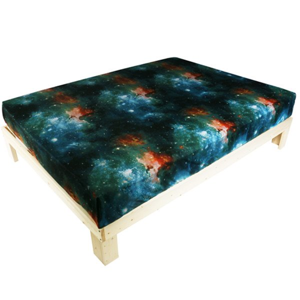 Amazing Galaxy Reactive Printing Polyester Fitted Sheet