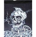 Cool Long Sleeve Horror Solider Pattern Black 3D Painted Hoodie