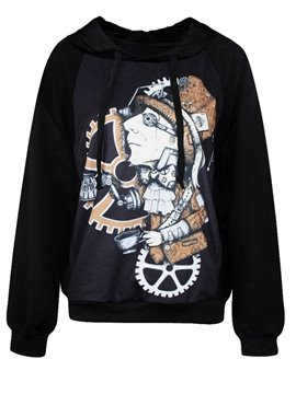 Fashion Long Sleeve Abtract Pattern 3D Painted Hoodie