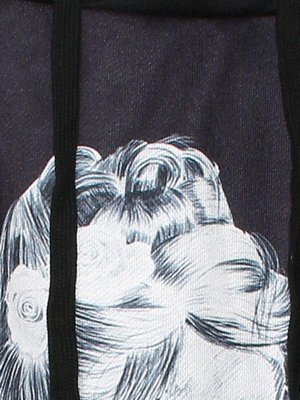 Pretty Long Sleeve Skull Girl Pattern 3D Painted Hoodie