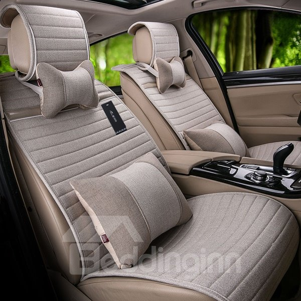 Most Charming Popular Flax Material Universal 7-Seater Car Seat Cover