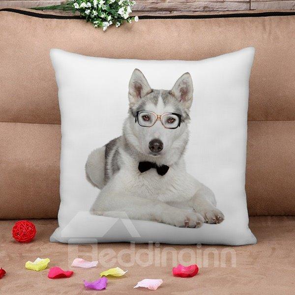 Adorable Puppy Doctor Print Throw Pillow Case