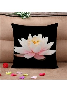 Lifelike 3D Lotus Print Throw Pillow Case