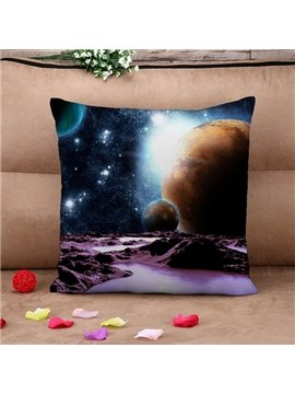 Unique Celestial Body Print Throw Pillow Case