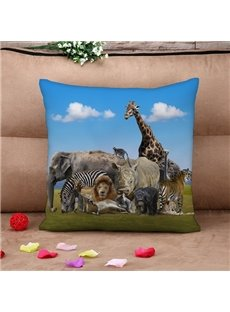 Splendid Animal 3D printed Throw Pillow Case